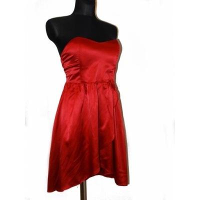a5fc52ebfe Sukienka Gorsetowa Rozkloszowana Czerwona Wesele36 - 6438594563 ...