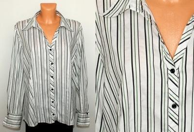 GERRY WEBER elegancka biała koszula w paski 48 50