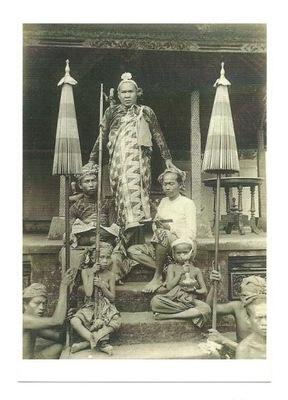П / я.- Властелин Гианьяр с naczelnikami / Bali, 1900
