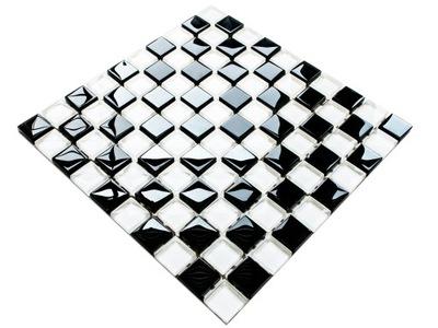 Мозаика СТЕКЛО черная белая шахматная доска, И сорт .8 ??