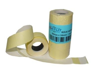 Značky pásky pre metkownicy 26x16 biela, 5 Ks klipy