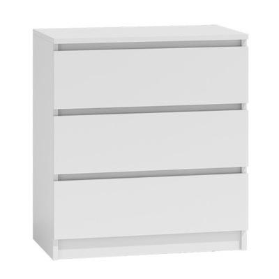 Komoda biała szuflady 70x40cm nowoczesna sypialni