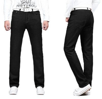 Spodnie Męskie Jeans Czarne HUNTER 610/6 126 cm/32