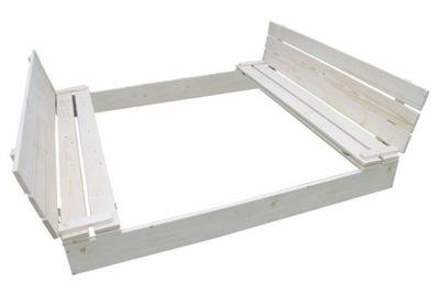 Pieskovisko pre deti - Pieskovisko pre deti - Sandbox 150x150 lakované lavice + ZDARMA