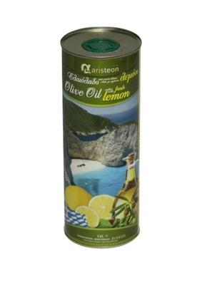 оливковое масло Оливковое масло с Лимоном 1л Вкусная Греческая ARISTEON