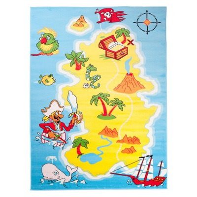 Koberec do detskej izby - CARPET KINDER 80x150 SOFT PIGEAN ISLAND FUN