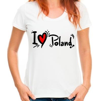Koszulka Polska I love Poland Kocham Polskę HQ -M