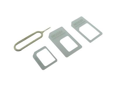 Adapter 3W1 NANO SIM / MICRO SIM biały