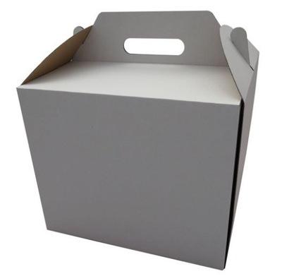 картон коробка ТОРТ Белый С ДЕРЖАТЕЛЕМ 30x30x25cm