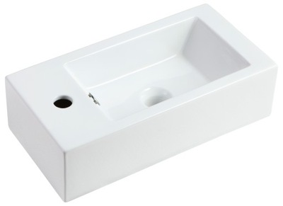 Umývadlo Malé keramické umývadlo 50x25 vpravo alebo vľavo