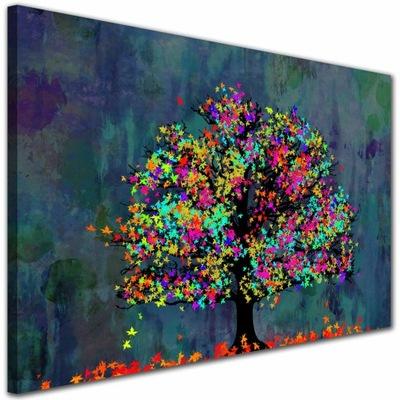 Изображение ??? салон Дерево ЦВЕТНОЙ листья Синий