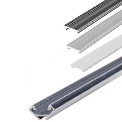 Алюминиевый профиль LED C угловой Угловой 2m + абажур