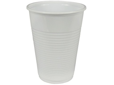 КРУЖКИ пластиковые 200 мл кружка Белый напиток 100шт.