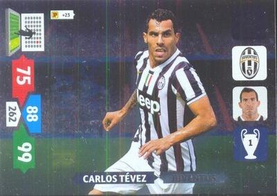 Karty Champions League 2013/14. Carlos Tevez.