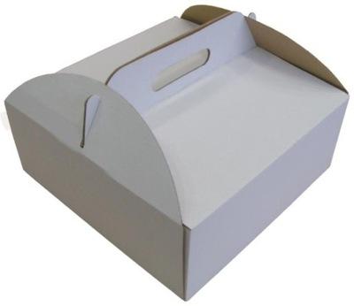картон коробка ТОРТ Белый С ДЕРЖАТЕЛЕМ 30x30x15cm