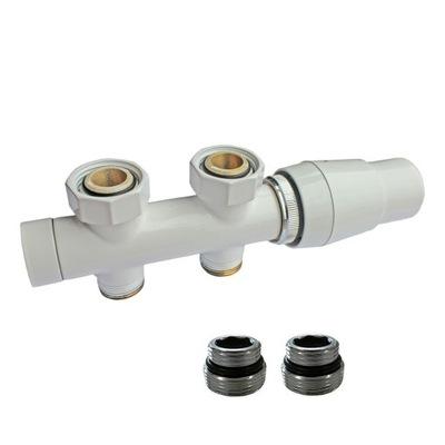 termostatické ventile, rovné, biele SCHLOSSER