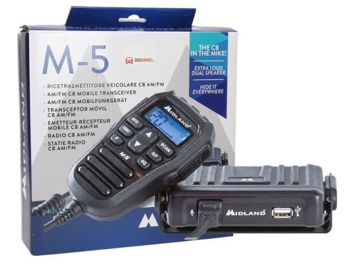RĘCZNE RADIO CB MIDLAND M-5 CBRADIO W GRUSZCE A7A