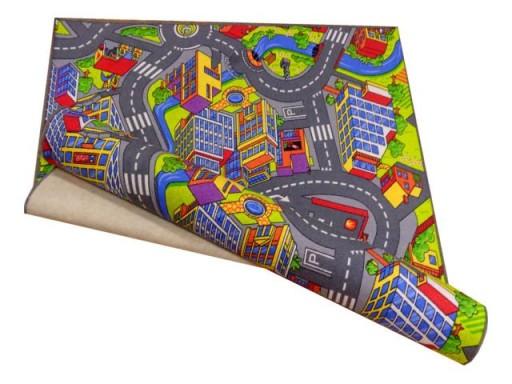 Dywan Dziecięcy 200x250 2x25 Dywanik Smart City