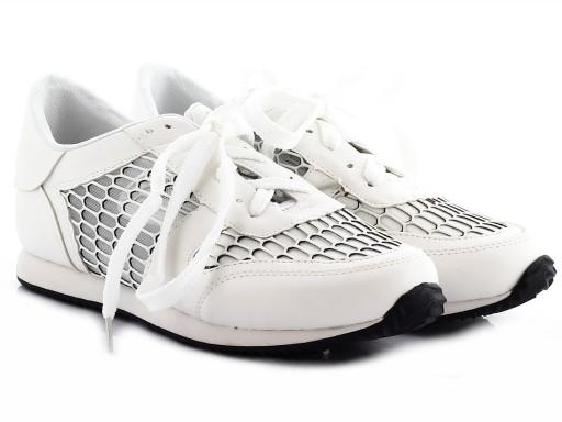 Białe buty sportowe siateczka TRAMPKI T 9 r. 39