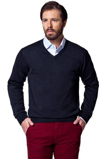 Sweter Lancerto Robin Bawełniany Antracytowy M