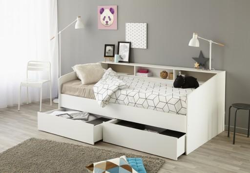 łóżko Z Półkami I Szufladami 90x200 Sleep Promocja