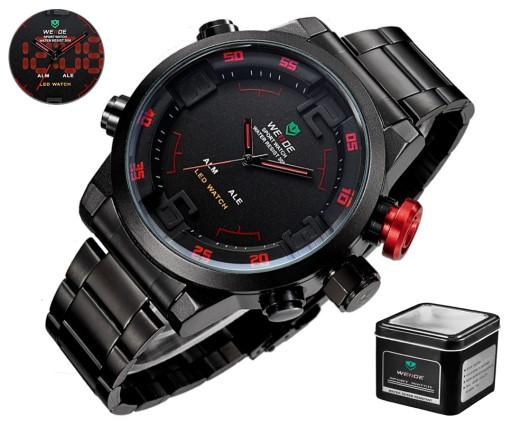 Duży Markowy Zegarek Męski Weide Wyśw Led Stal Lux 6128292026 Allegro Pl