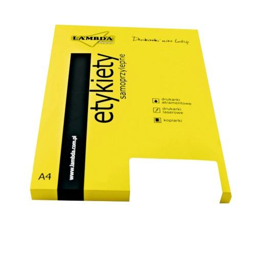 Etykiety Samoprzylepny Papier A6 Naklejki Lambda 5664744436 Allegro Pl