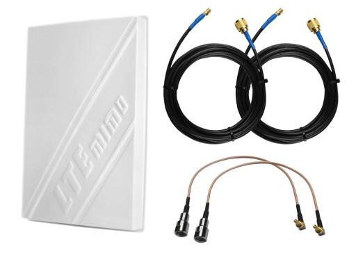 Antena MIMO LTE 2x 14dBi MODEM HUAWEI E3372 10m FV