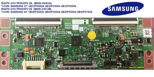 Logika T-con RUNTK 5351TP 0055FV naprawa modułu