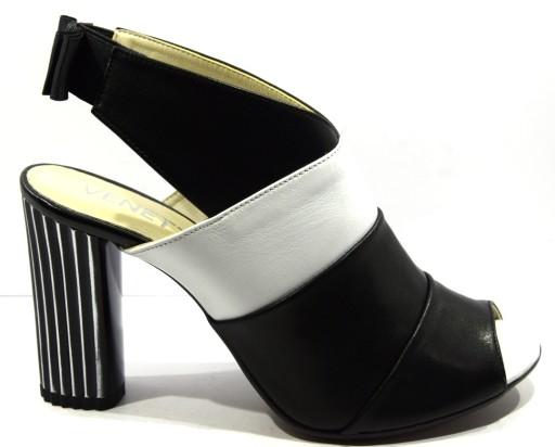 86ebdecb Obuwie damskie czarno białe Venetti 1337 R.38 7346833190 - Allegro.pl