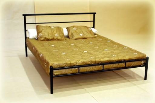 łóżko Metalowe Gabi 120x200 Industrial Ze Stelażem