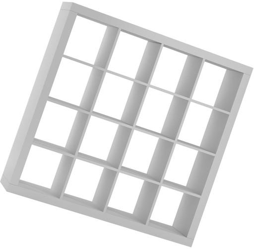 Regał Kwadrat Półki Salon Na Książki Szafka Biały