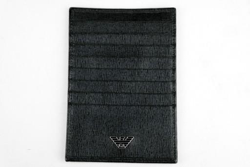 a54e4c447a99d EMPORIO ARMANI portfel wizytownik męski czarny 6714704965 - Allegro.pl