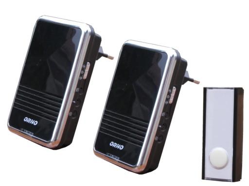 Dzwonek bezp.OR-DB-QS-113 dwa odbiorniki przycisk