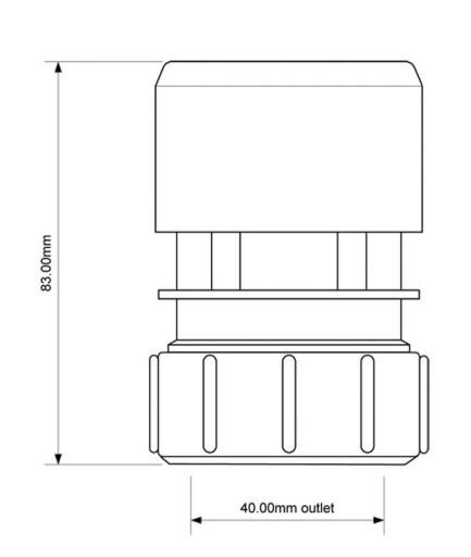 ZAWÓR NAPOWIETRZAJĄCY HC50, 40mm