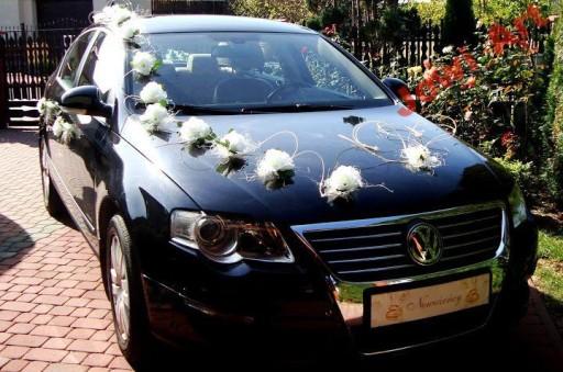 Ogromny Dekoracja samochodu ślubnego weselnego na samochód 5022465902 DS87