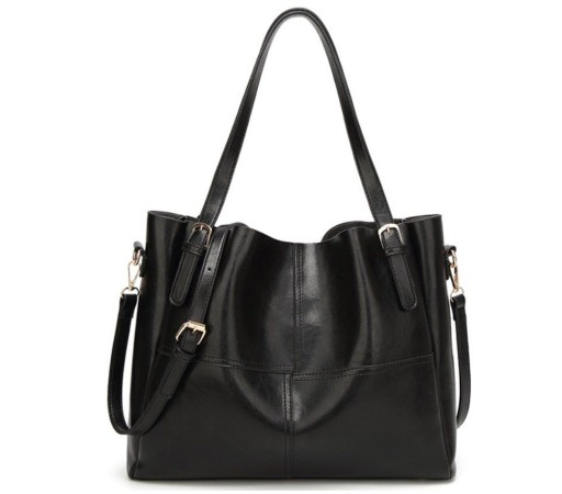 579d1b0b99908 Damska Torebka Shopper Bag A4 Czarna Lakierowana 7080123470 - Allegro.pl