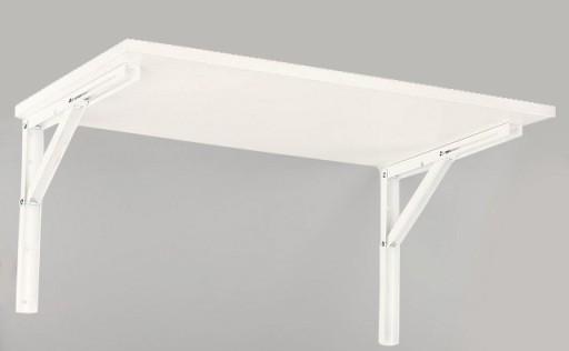 Stół stolik składany ścienny 80x40 rozkładany 8kol