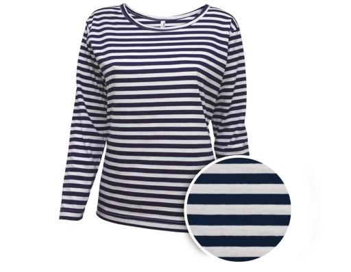 T shirt z długim rękawem w marynarskie paski | BLUE | Tommy