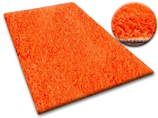 DYWAN SHAGGY 5cm 200x200 pomarańcz KAŻDY RO @10649