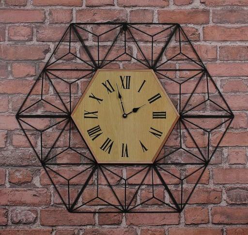 Zegar loftowy loft metalowy nowoczesny czarny 84cm