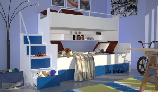 łóżko Piętrowe Dla Dzieci 3 Osobowe Z Materacami