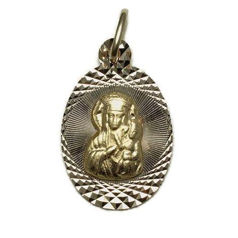 Medalik Złoty MB Częstochowska 585 14k komunia
