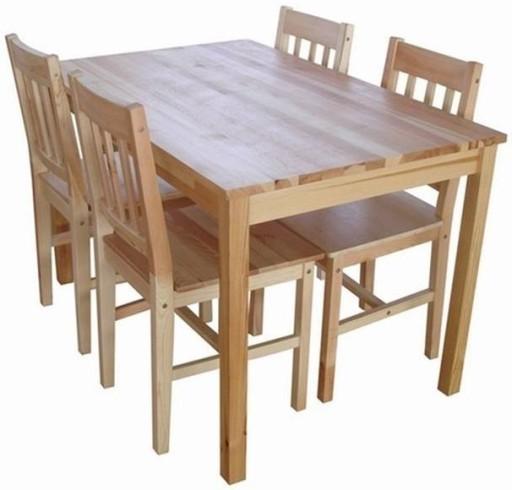 Zestaw Do Jadalni Stół 4 Krzesła Krzesło Drewno 6046489106