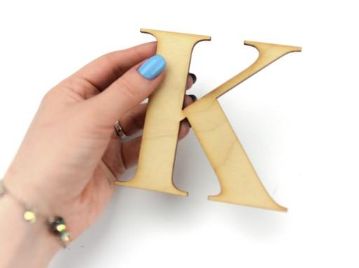 Twoje litery i napisy z drewna na ścianę 3-9cm