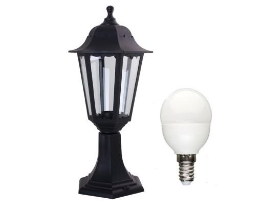 Lampa ogrodowa stojąca RETRO 4024 latarnia +6W LED
