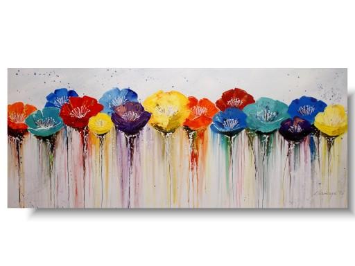 Abstrakcja Kolorowa łąka Kwiaty Nowoczesne Obrazy 6956314446