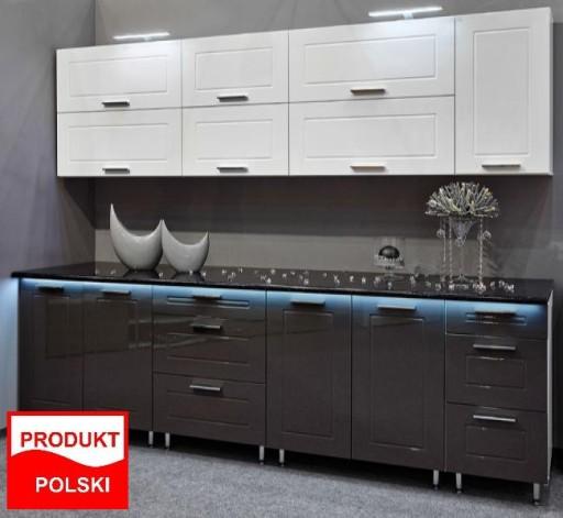 Meble Kuchenne Kuchnia Quatro Bialy Szary Polysk 6833451683 Allegro Pl