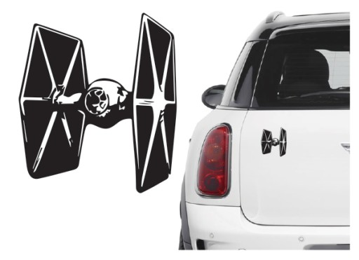 Naklejka na samochód/samochodowa Star Wars TIE