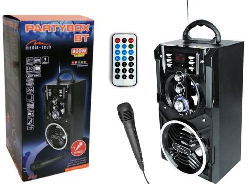 Boombox Głośnik BT z Pilotem Mikrofonem KARAOKE